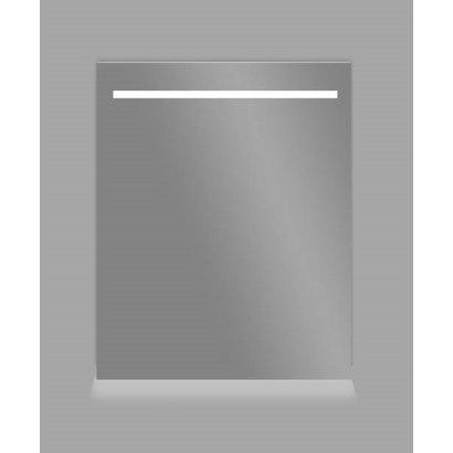 Aluminium spiegel met LED verlichting en onder verlichting 60 incl. spiegelverwarming