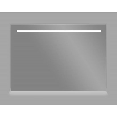 Aluminium spiegel met LED verlichting en onder verlichting 80