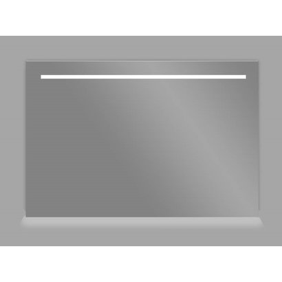 Aluminium spiegel met LED verlichting en onder verlichting 100 incl. spiegelverwarming