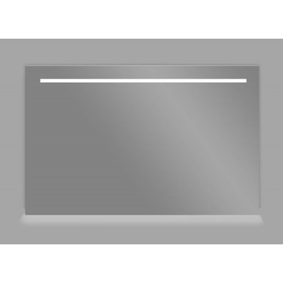 Aluminium spiegel met LED verlichting en onder verlichting 120