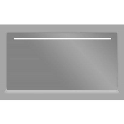 Aluminium spiegel met LED verlichting en onder verlichting 160 incl. spiegelverwarming