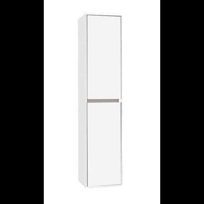 Kolomkast Compact Greeploos met greeplijst aluminium Hoogglans Wit