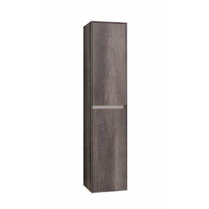 Kolomkast Compact Greeploos met greeplijst aluminium Century Oak