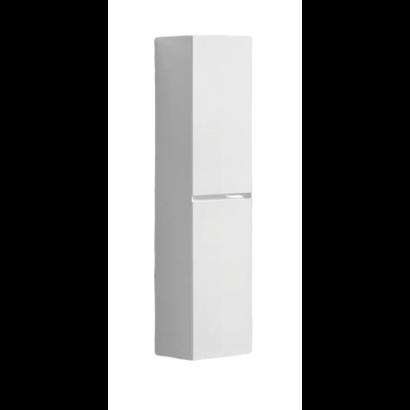 Kolomkast Infinity korpus en deur in het verstek met greeplijst in korpus kleur Hoogglans Wit