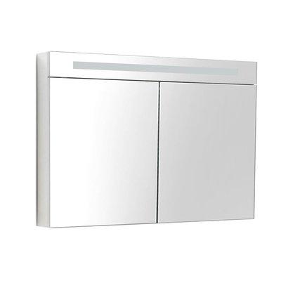 Spiegelkast met LED verlichting incl. opbouw stopcontact schakelaar 120 Hoogglans Wit