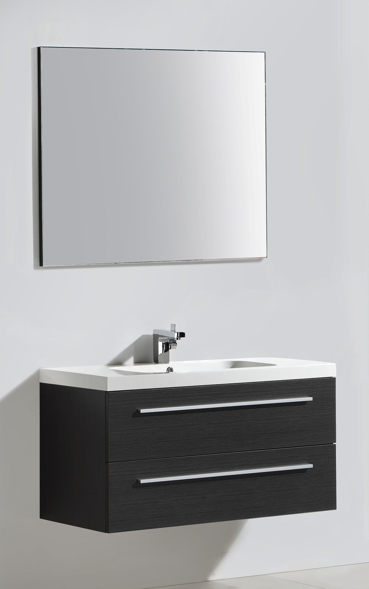 Badmeubelset RN 100 met greep inclusief standaard spiegel