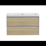 Aktieset badmeubel PL 80 greeploos Light Wood