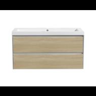 Aktieset badmeubel PL 100 greeploos Light Wood