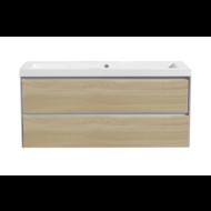 Aktieset badmeubel PL 120 greeploos Light Wood