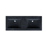 Wastafel Trend Stone natuursteen 120 dubbele wasbak