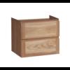 Wood Eiken onderkast met greeplijst in korpus kleur 60