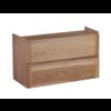 Wood Eiken onderkast met greeplijst in korpus kleur 80