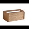Vision Wood Eiken onderkast 1 Lade met greeplijst in korpus kleur 80