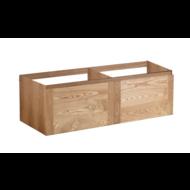 Vision Wood Eiken onderkast 2 Lade met greeplijst in korpus kleur 120