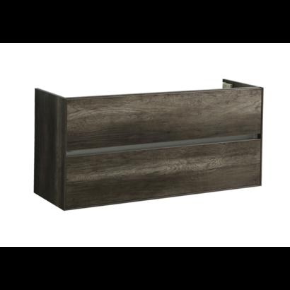 Compact Greeploos onderkast met greeplijst aluminium 120 Century Oak