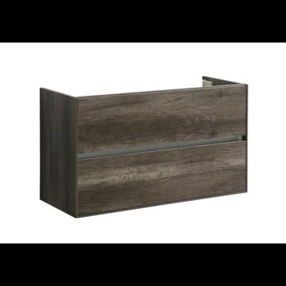 Compact Greeploos onderkast met greeplijst aluminium 100 Century Oak