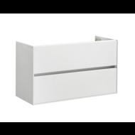 Compact Greeploos onderkast met greeplijst aluminium 100 Hoogglans Wit