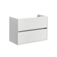 Compact Greeploos onderkast met greeplijst aluminium 80 Hoogglans Wit