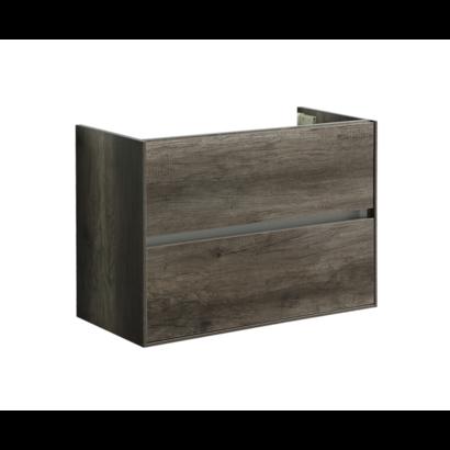 Compact Greeploos onderkast met greeplijst aluminium 80 Century Oak