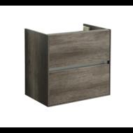 Compact Greeploos onderkast met greeplijst aluminium 60 Century Oak