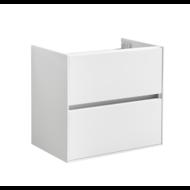 Compact Greeploos onderkast met greeplijst aluminium 60 Hoogglans Wit