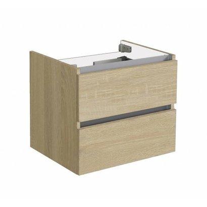 Trendline onderkast met greeplijst aluminium 60 Light Wood
