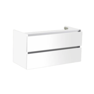 Trendline onderkast met greeplijst aluminium 80 Hoogglans Wit