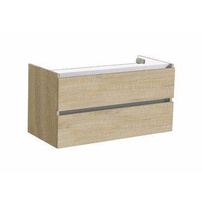 Trendline onderkast met greeplijst aluminium 100 Light Wood