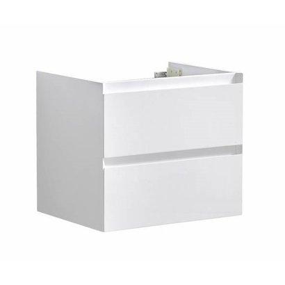 Infinity onderkast korpus en front in het verstek met greeplijst in korpus kleur 60 Hoogglans Wit