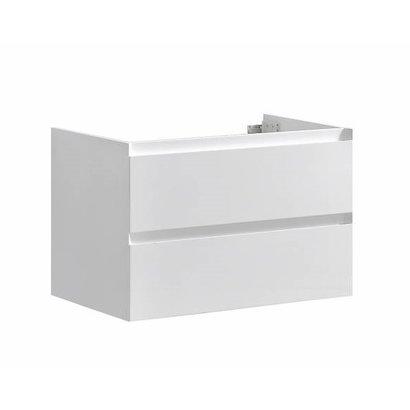 Infinity onderkast korpus en front in het verstek met greeplijst in korpus kleur 80 Hoogglans Wit