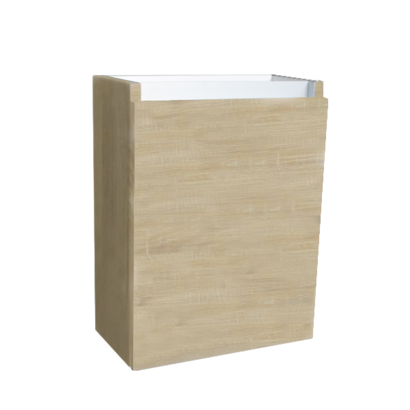 Fonteinkast met greeplijst aluminium Light Wood