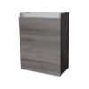 Fonteinkast met greeplijst aluminium Century Oak