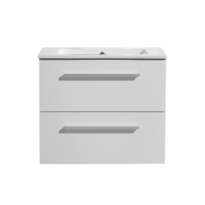 Aktieset badmeubel DL met greep aluminium 60 mat wit zonder spiegel