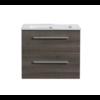 Aktieset badmeubel DL met greep aluminium 60 Kentucky Oak zonder spiegel