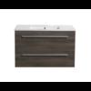 Aktieset badmeubel DL met greep aluminium 80 Kentucky Oak zonder spiegel