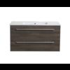 Aktieset badmeubel DL met greep aluminium 100 Kentucky Oak zonder spiegel