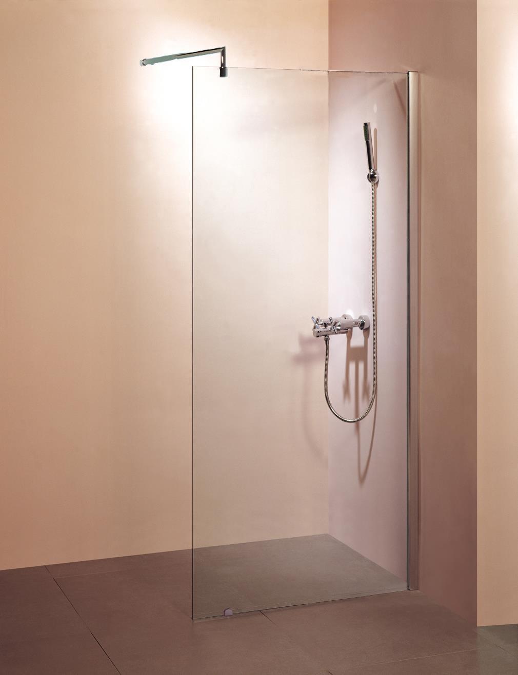 Walk in douchewand met profiel 10 mm veiligheidsglas