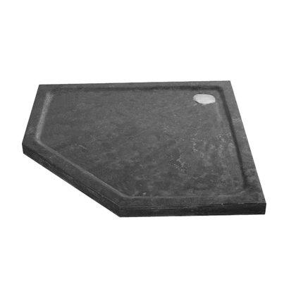 Douchebak natuursteen vijfhoek 90