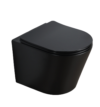 Wandcloset rimless budget compact Mat Zwart