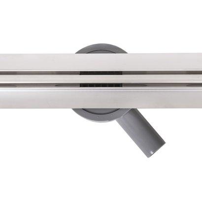 Douchegoot RVS Trend Flex met flens en draaibaar sifon   90 cm