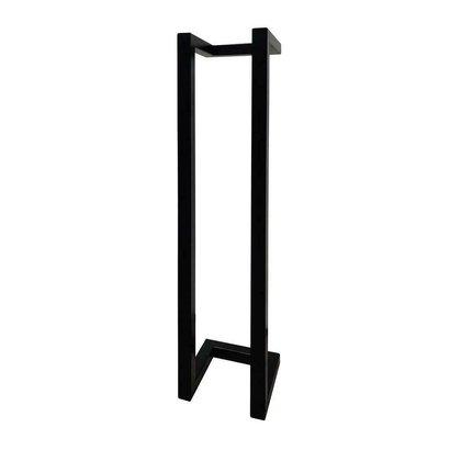 Toiletrolhouder staal Mat Zwart 45x10x13 cm