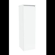 Kolomkast Trendline half hoog met greeplijst aluminium Hoogglans Wit