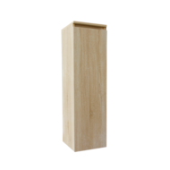 Kolomkast Trendline half hoog met greeplijst aluminium Light Wood