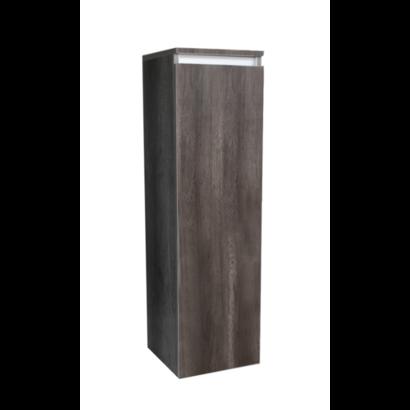 Kolomkast Trendline half hoog met greeplijst aluminium Century Oak