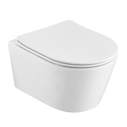 Wandcloset easy flush rimfree compact 36x48x25 cm met slim flatline softclose zitting