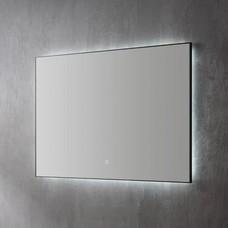 Aluminium spiegel decor Mat Zwart met indirecte LED verlichting, 3 kleur instelbaar & dimbaar