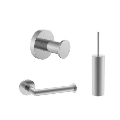 Toilet accessoireset rond Gun Metal