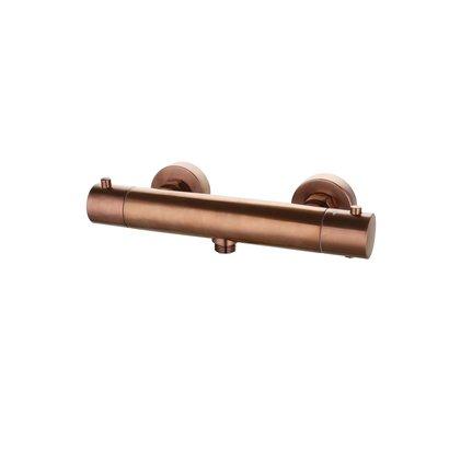 Douchemengkraan opbouw thermostatisch rond Brons