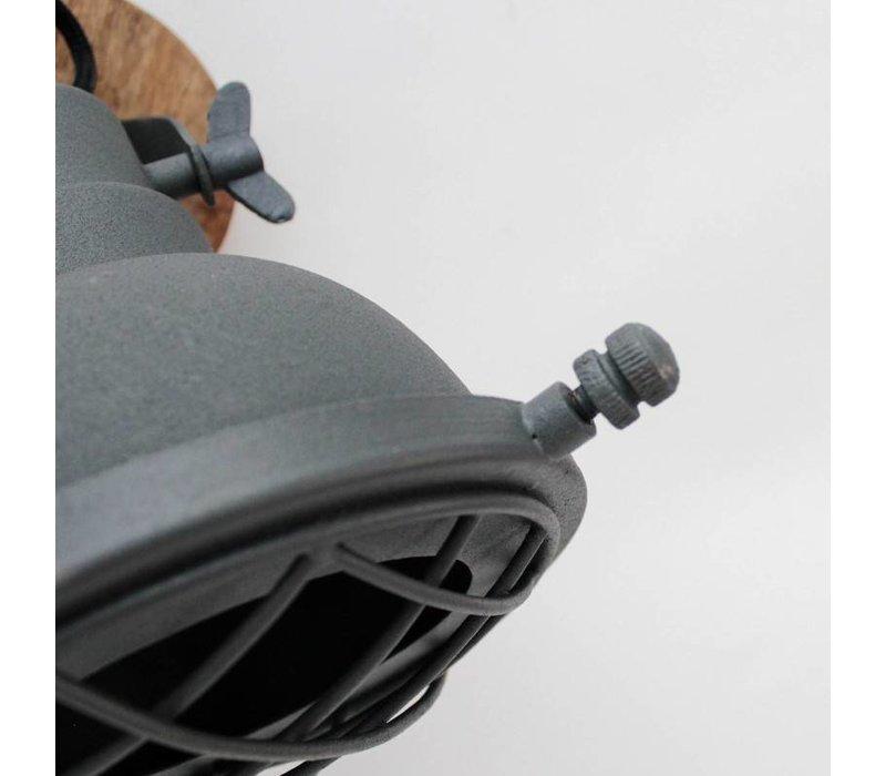 Wandlamp Grid grijs
