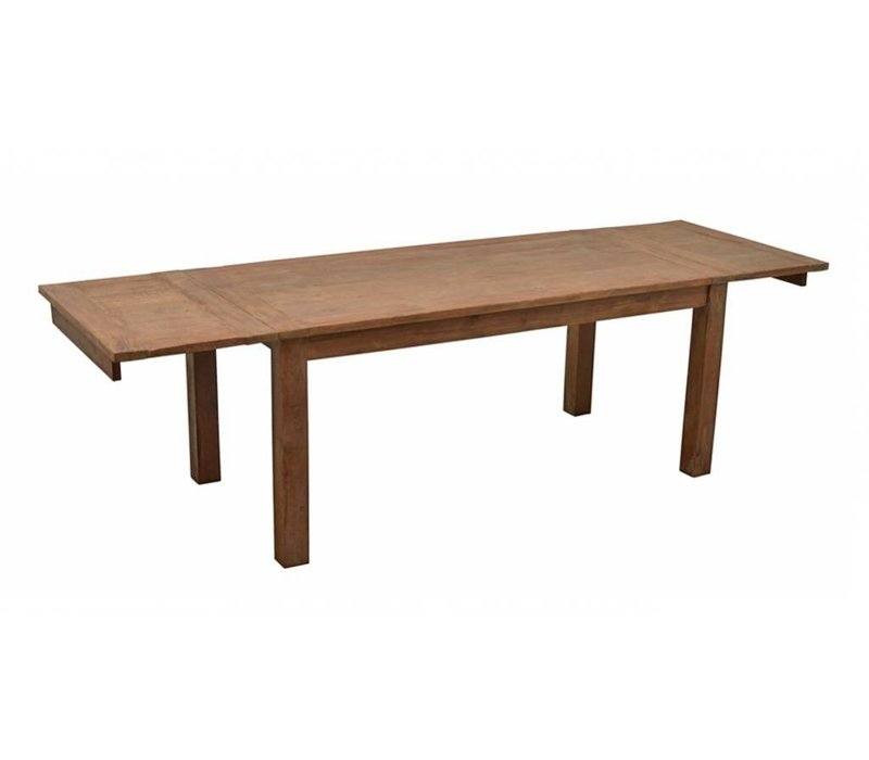 Eettafel Vierkant Uitschuifbaar.Livingfurn Eettafel Uitschuifbaar Recycled Teak